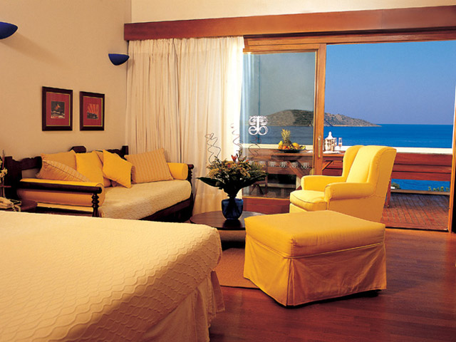 Elounda Beach Comfort VIP Club  Luxury Rooms Living Room