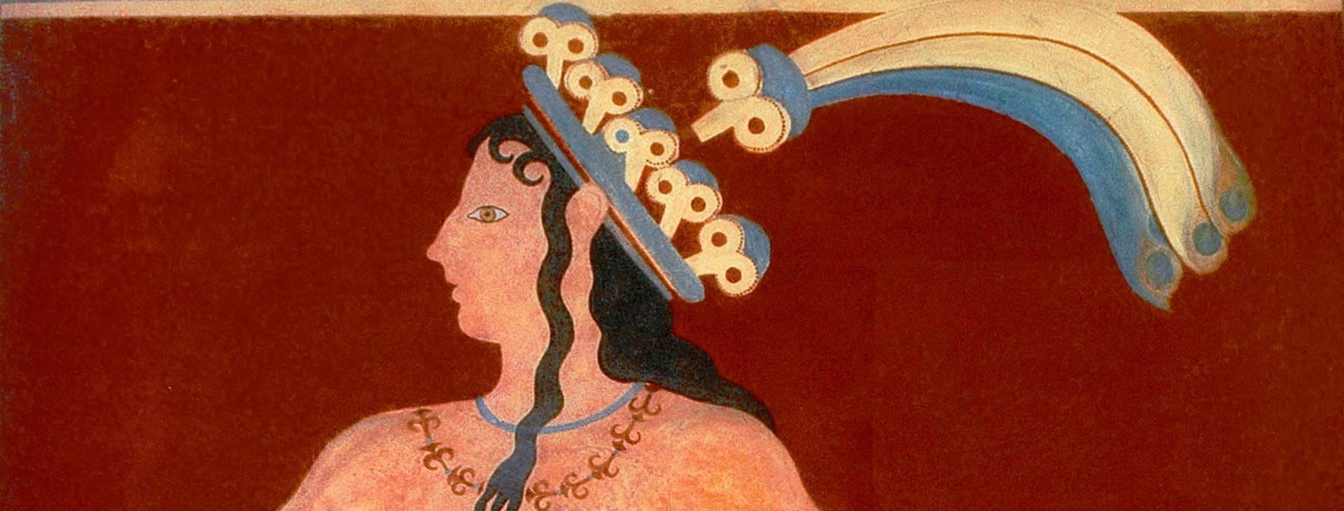 Prince of lillies, fresco at the Minoan palace of Knossos, Heraklion