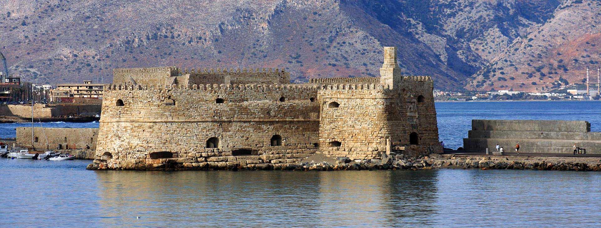 Koule castle in the old harbour, Heraklion city
