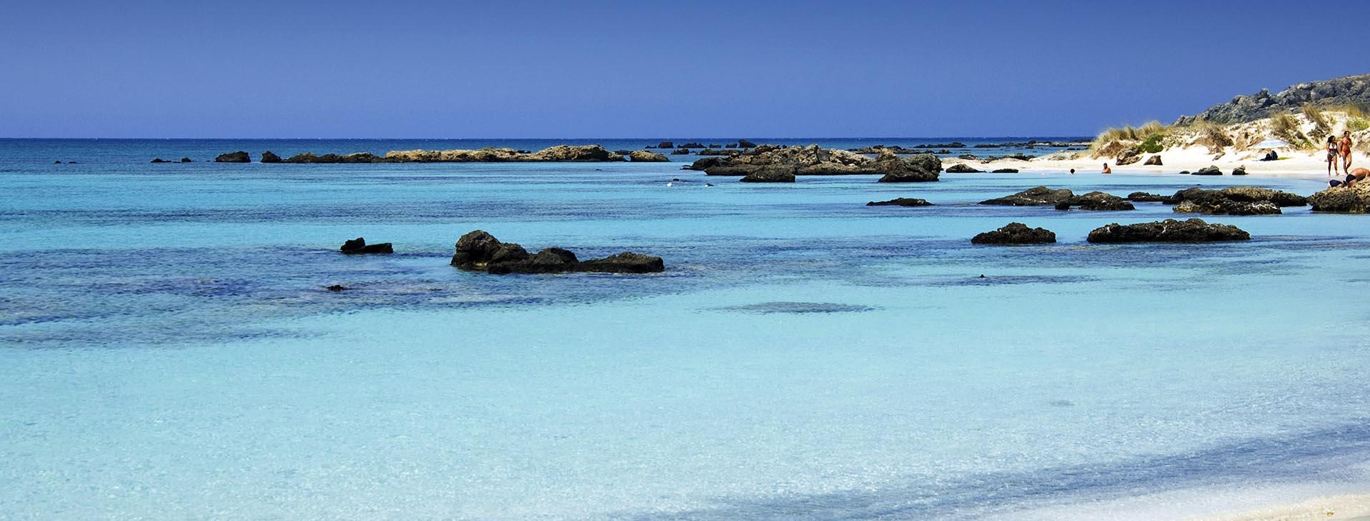 A beach of Rethymnon