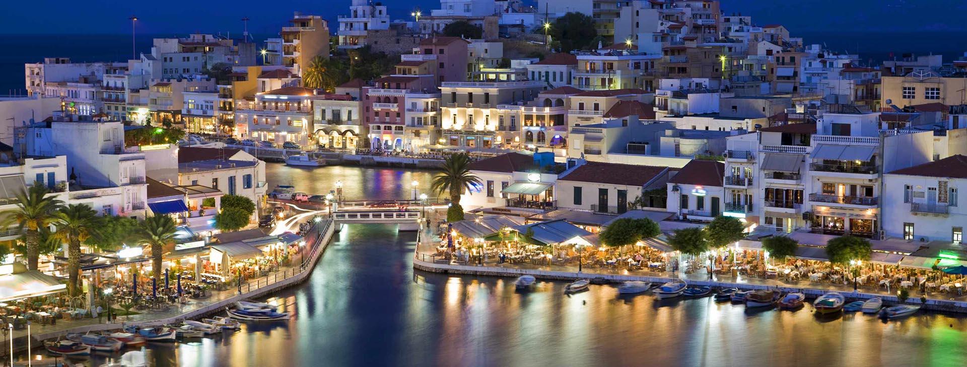 Agios Nikolaos by night, Lassithi