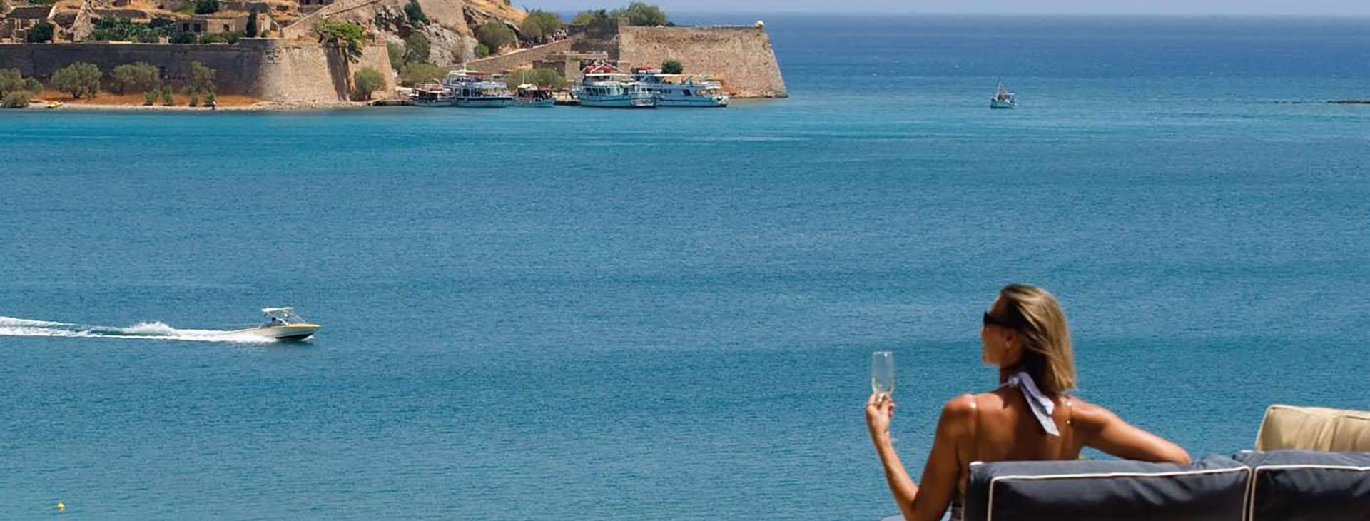 View of Spinalonga Isle, Elounda, Lassithi