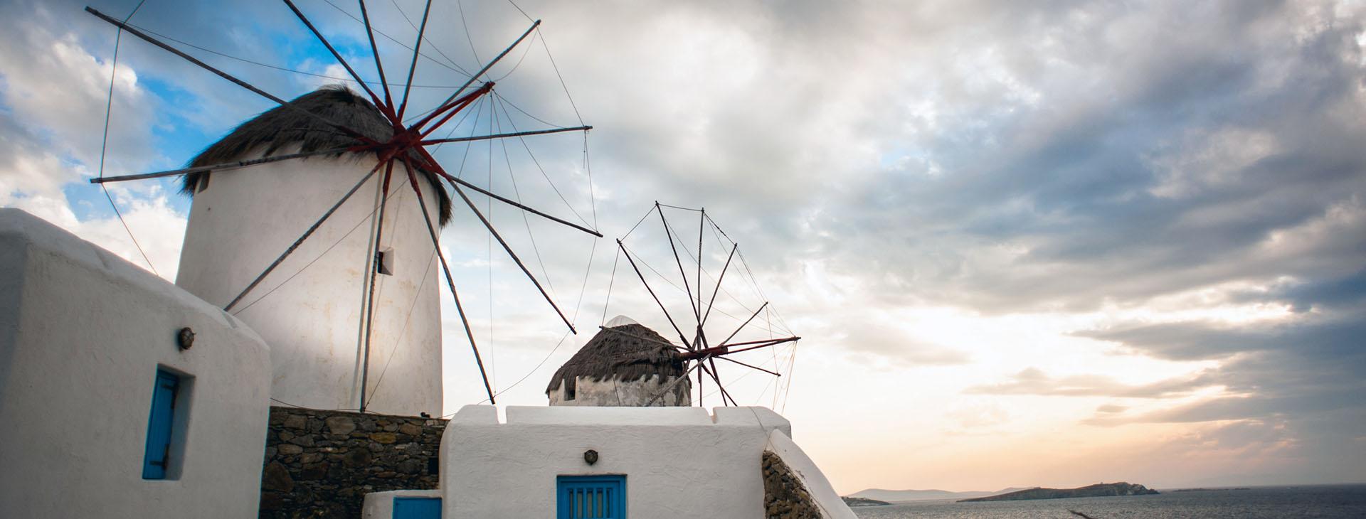 Windmills of Mykonos island