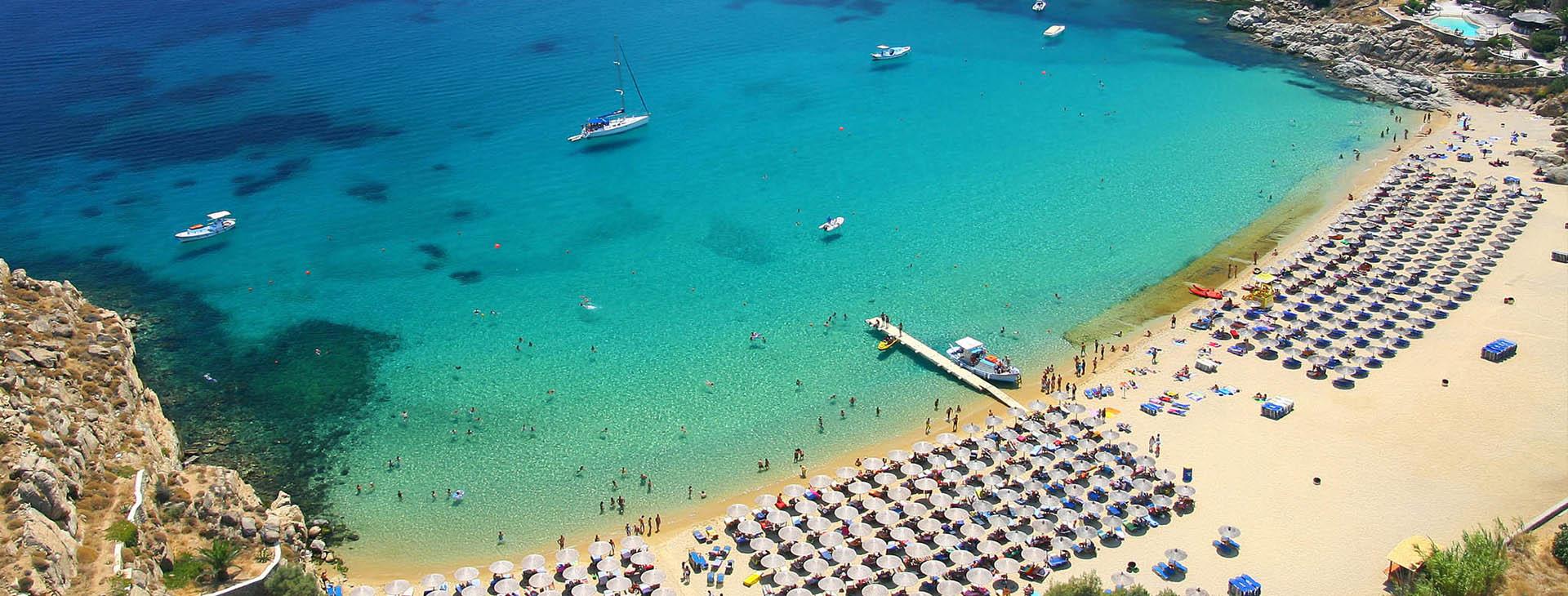 Paradise Beach at Mykonos island