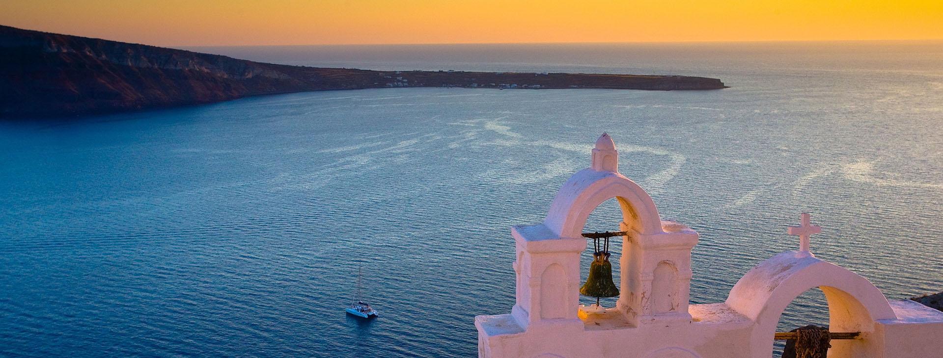 Sunset at Santorini island