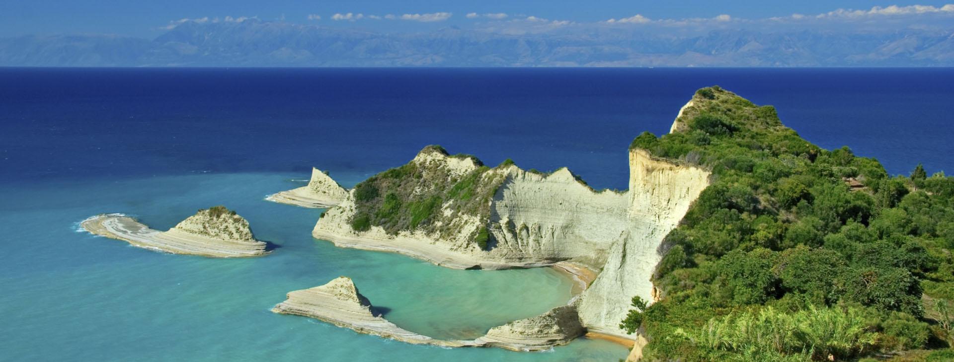 Beach of Corfu island