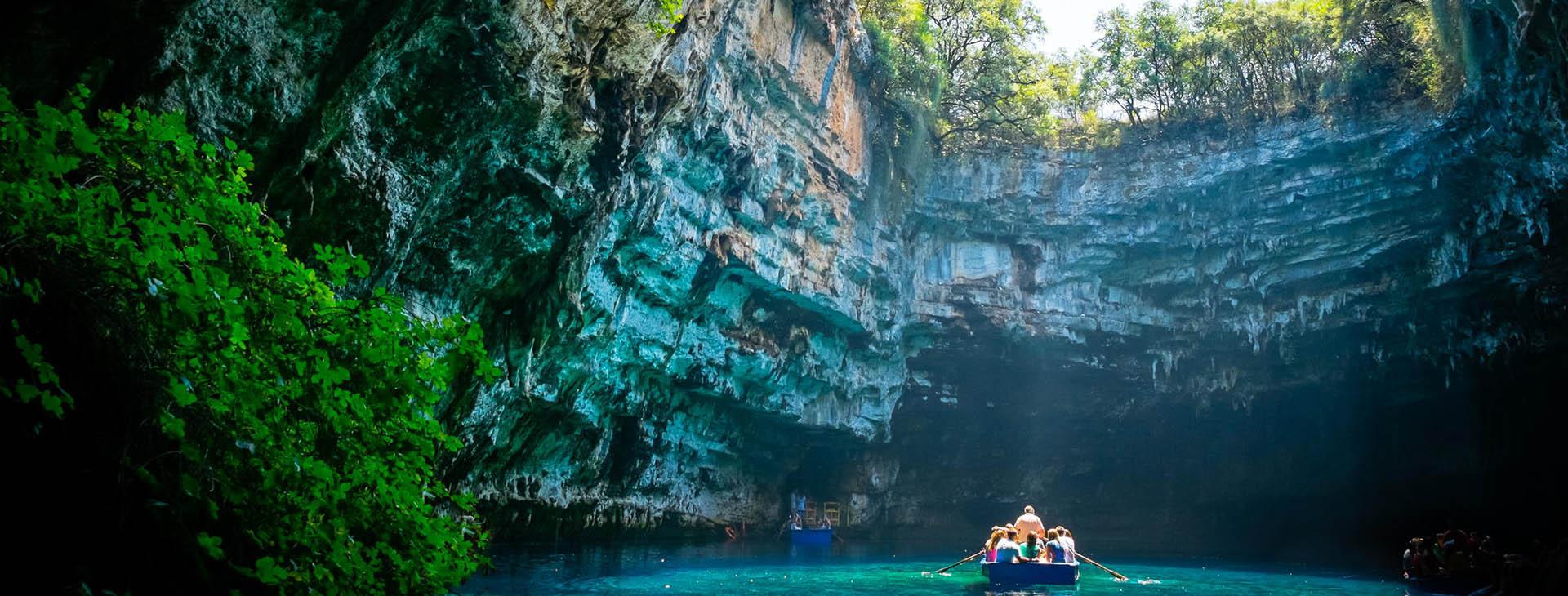 Mellisani cave on Kefalonia island
