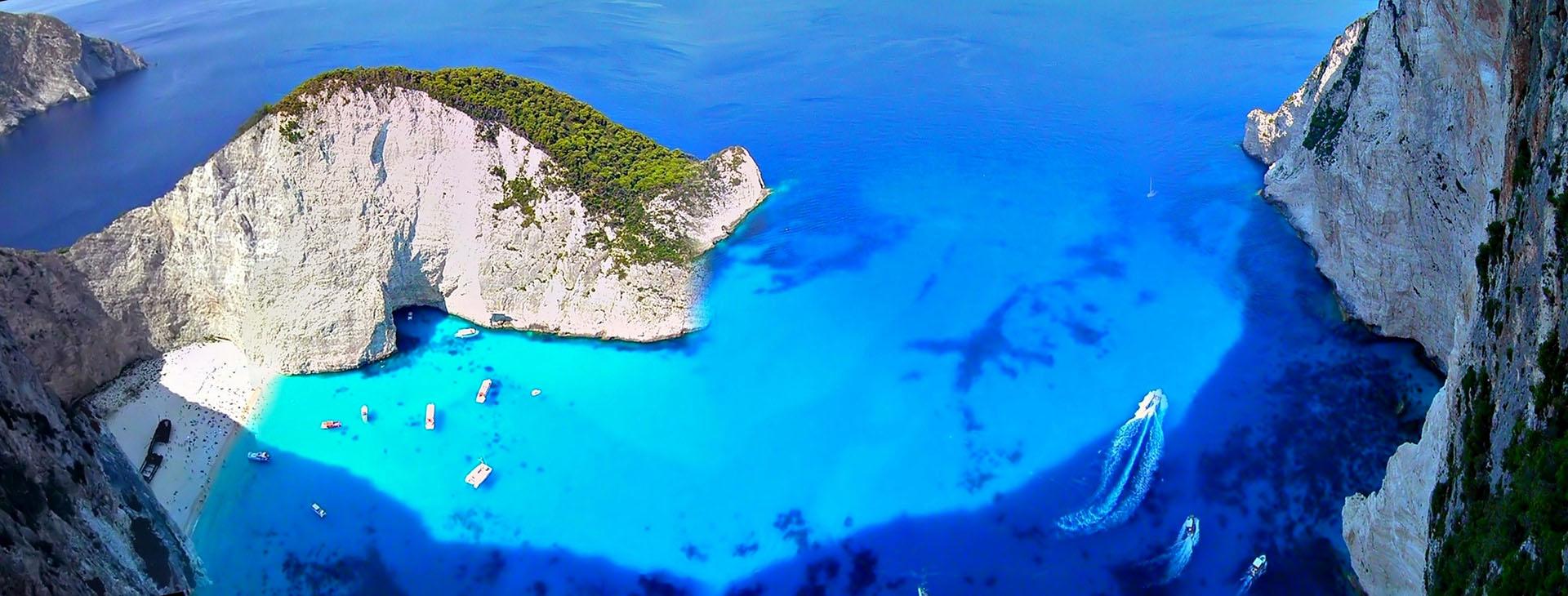 Smugglers Cove - Navagio (Shipwreck) beach on Zakynthos island