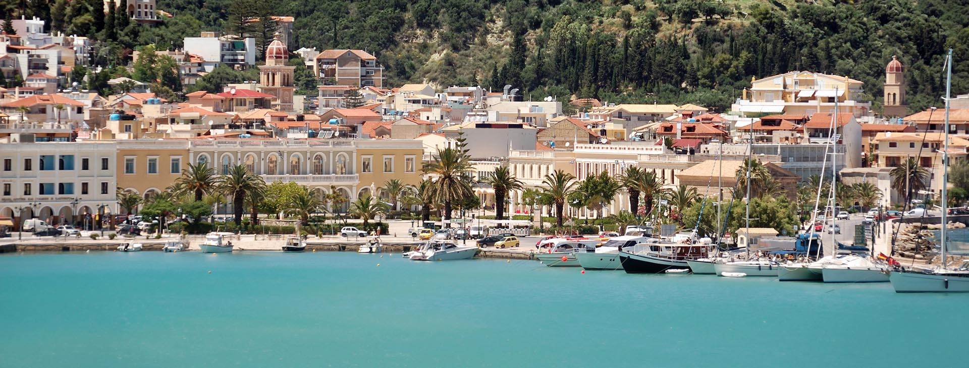 Zakynthos port and town