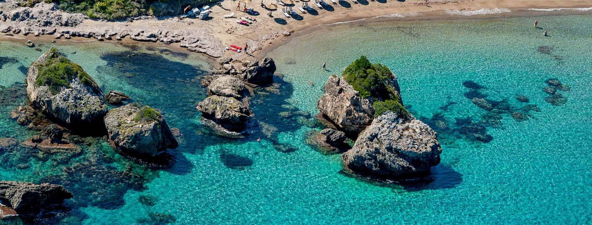 Beach near Vassilikos on Zakynthos island
