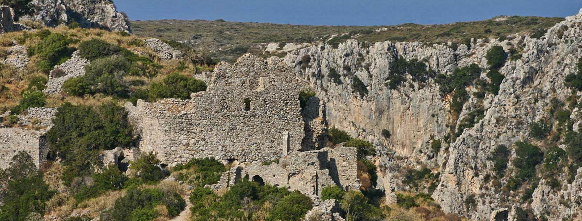 Medieval ruins at Palaiohora, Kythira island