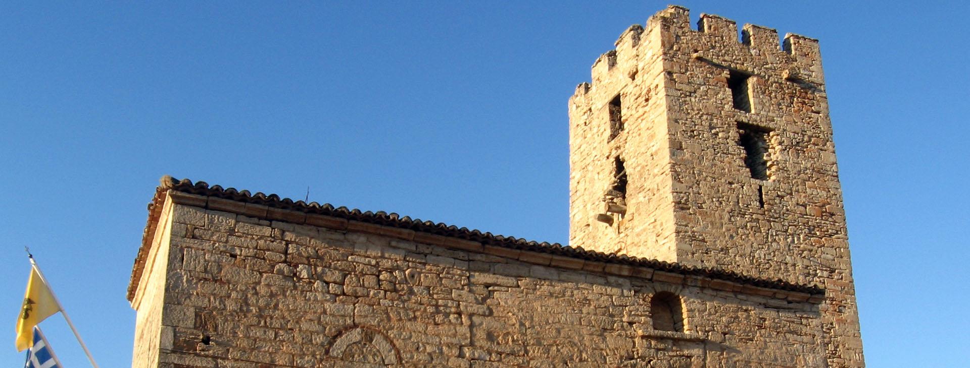 Byzantine tower at Nea Fokea, Kassandra, Halkidiki (Chalkidiki)