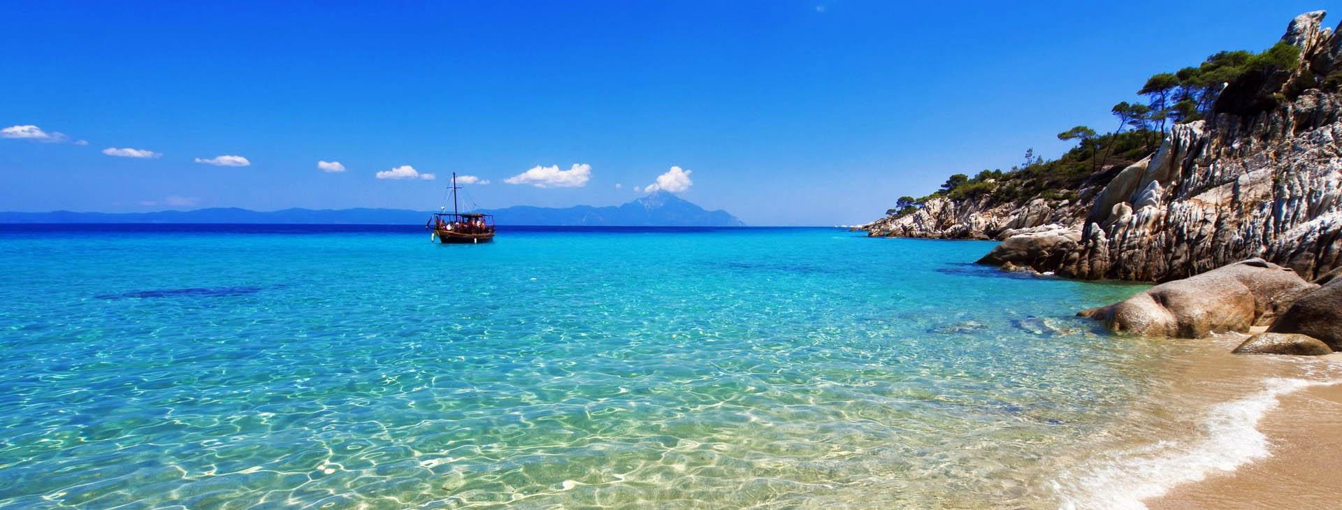 Paradise bay beach at Halkidiki (Chalkidiki)