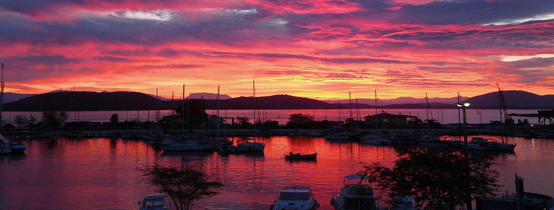 Sunset over Preveza harbour