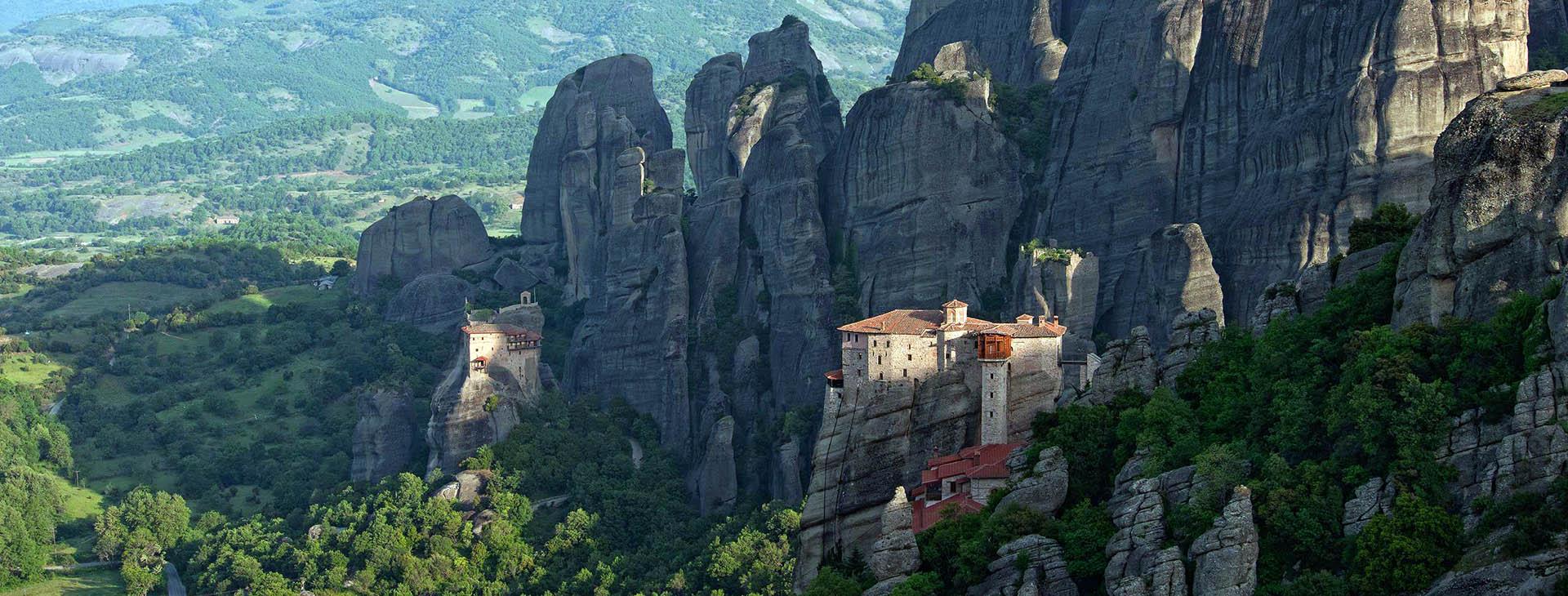 Roussanou Monastery & St. Nicholas Anapafsas Monastery at Metéora, Trikala