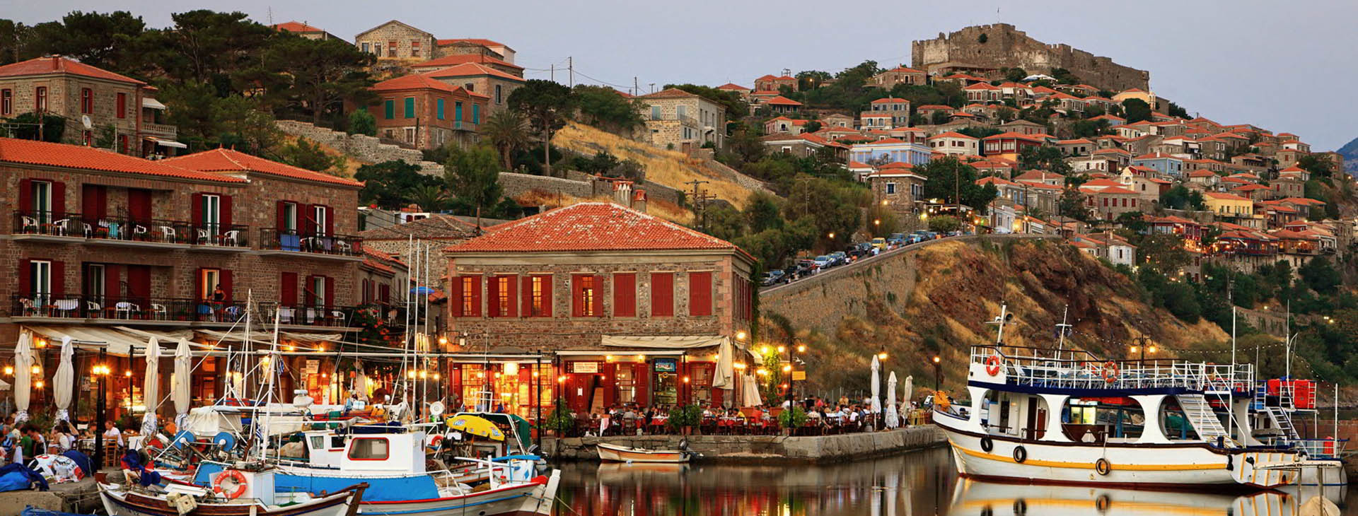 Mytilene town and harbour, Lesvos island
