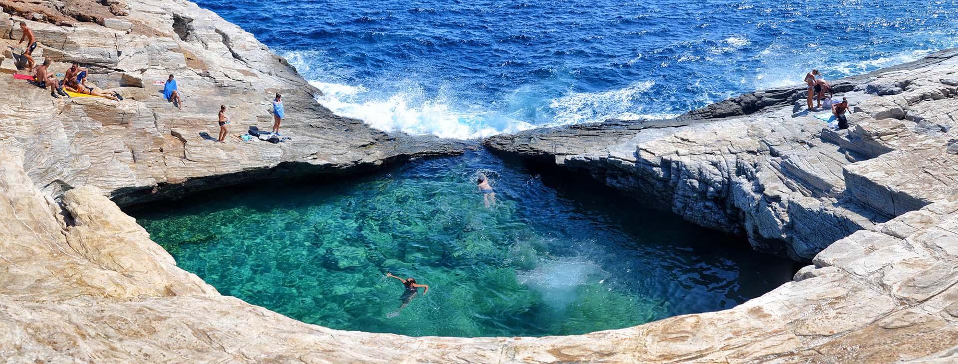 Giola natural pool, Thassos island