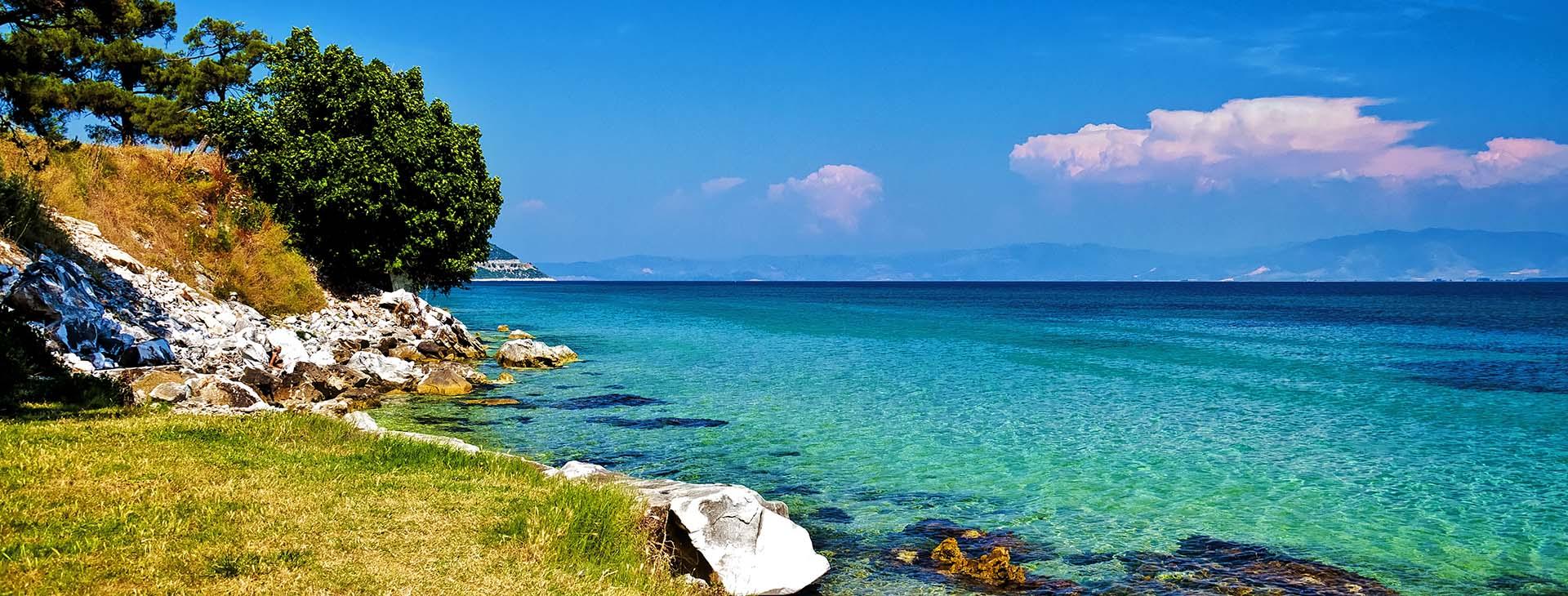 Beach at Thassos island