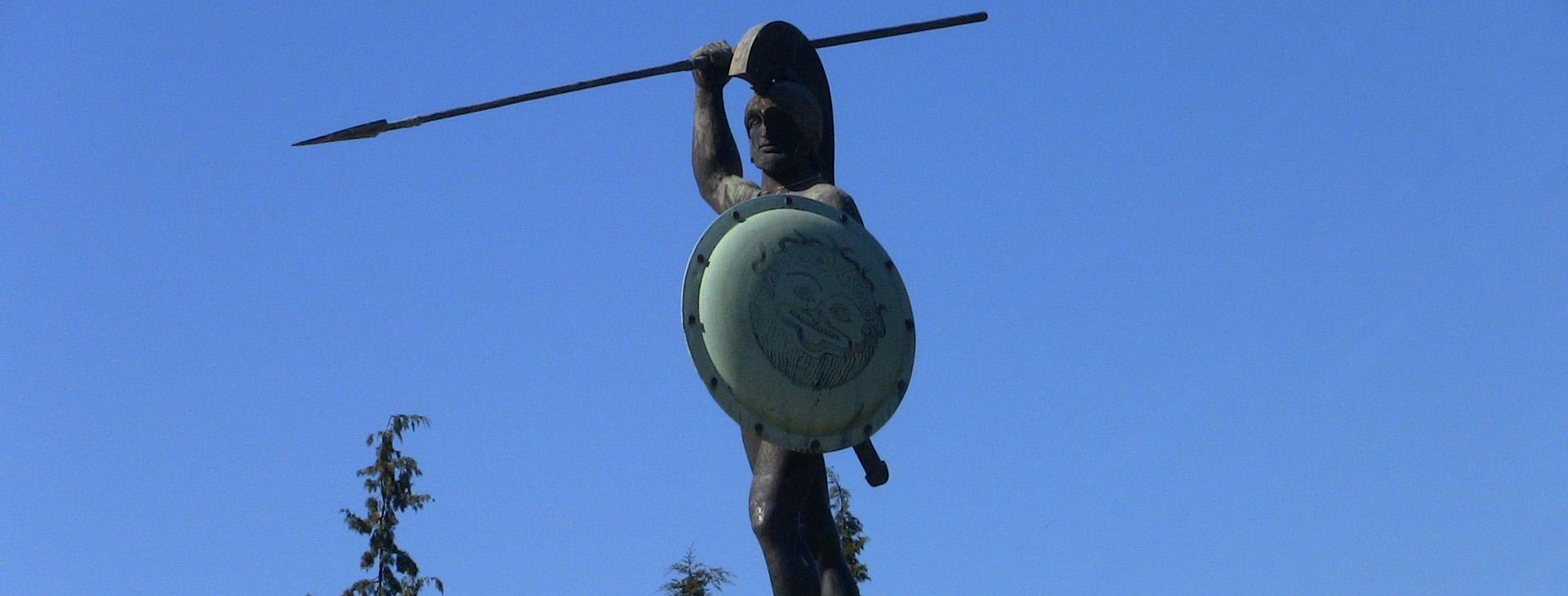 King Leonidas statue / Battle of Thermopylae monument
