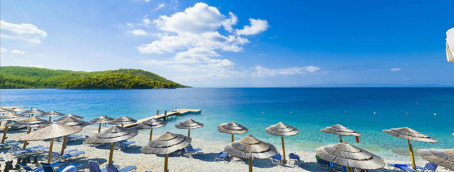 Beach at Skopelos island