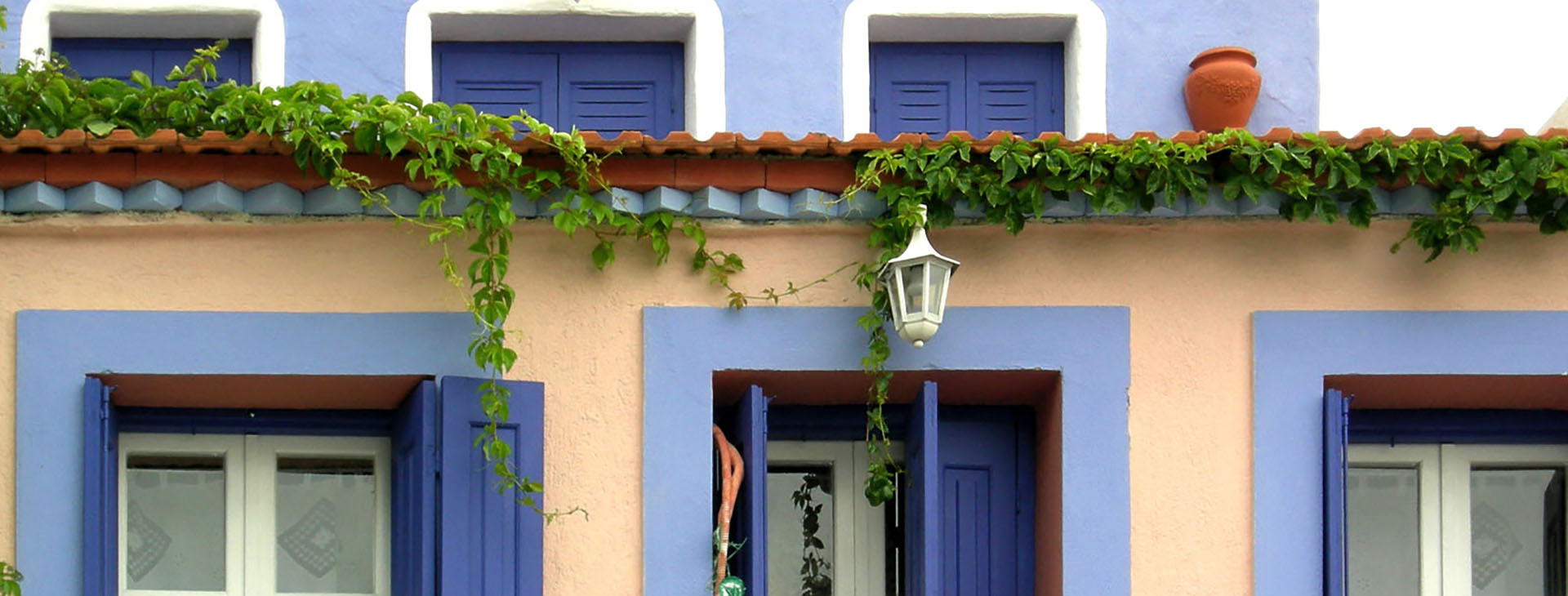 Traditional style colored house of Alonissos