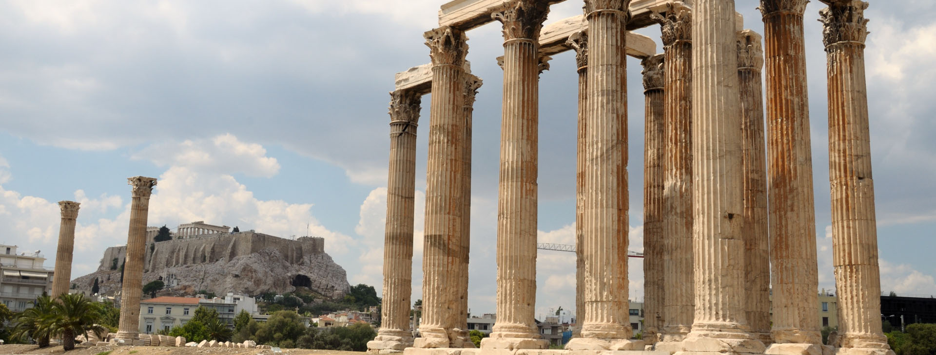 Temple of Olympian Zeus and Acropolis, Athens