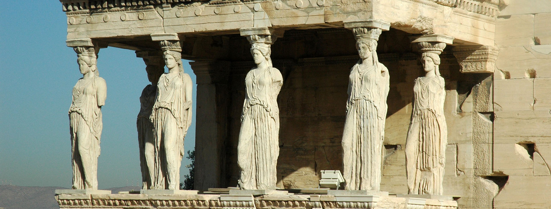 The Caryatids Statues / Erechtheion at Acropolis of Athens