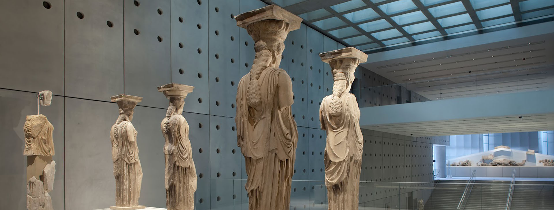 The Caryatids Statues in The Acropolis Museum, Athens